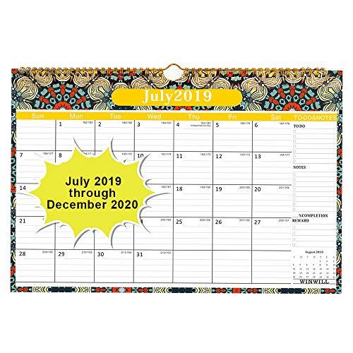 - Wall Calendar 2019-2020 Academic Year Monthly Wall Calendar 2019-2020 Wirebound 12