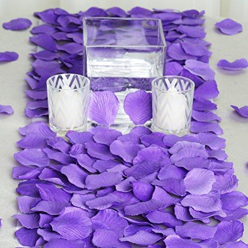 BalsaCircle 4000 Purple Silk Artificial Rose Petals Wedding Ceremony Flower Scatter Tables Decorations Bulk Supplies Wholesale