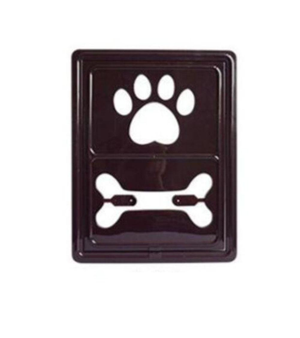 Brown Footprint Pet Screen Window Door Cat Door Hole Dog Door Anti-Mosquito Screens in Summer, Brown