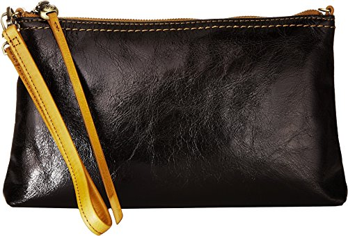 Hobo Womens Leather Vintage Darcy Convertible Crossbody Bag (Black)