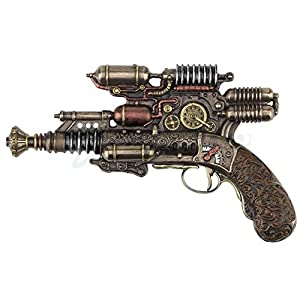 Veronese Steampunk Gauss Coil Dummy Pistol Statue 10.5 Inch Long