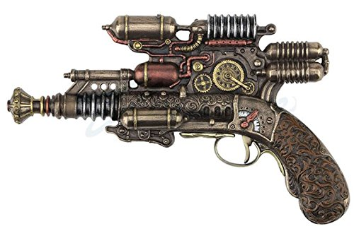 Veronese Steampunk Gauss Coil Dummy Pistol Statue 10.5 Inch Long 3