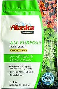 Alaska de Pennington multiusos seco fertilizantes 6–4-6Pellets 3Lb