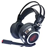2017 headphone(warranty included) CCsky Gaming Headset for PS4 Playstation 4 PC Xbox One Laptop Mac Nintendo Switch PC Games, Noise Isolation/ LED Light/ Bass Surround Stereo/Soft Memory Earmuffs Review