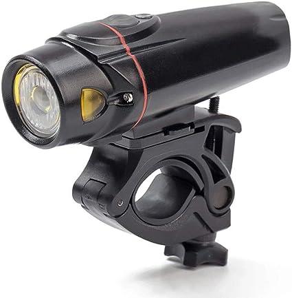 Juego de luces de bicicleta recargable USB para exteriores, con 8 horas, 400 lúmenes, linternas de líneas nocturnas súper brillantes y luces de advertencia en la fila trasera, cuatro modos para todas: