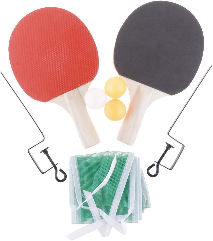 Desconocido Ping Pong Paddle – Juego de 2 Raquetas de Tenis de Mesa Pro Premium, 3 Pelotas de Juego Profesionales, Bate de Hule Giratorio, Kit de Raqueta de Entrenamiento/recreativo