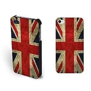 Classic Retro Uk Phone Case - United Kingdom Jack Union British Flag Hard Case Cover for Iphone 4 4s WANGJING JINDA