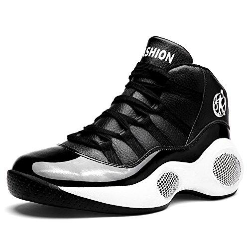 Scurtain Herenmode Sneakers Sport Antislip High-top Ademende Casual Wandelschoenen Black-1