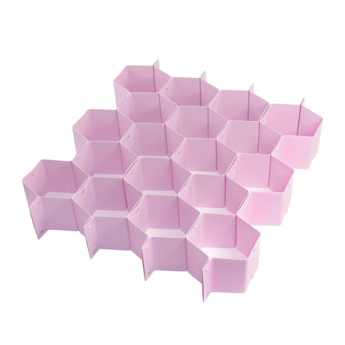 Kunststoff Honeycomb Stil Tidy Drawer Divider-Speicher-Organisator-Rosa DealMux