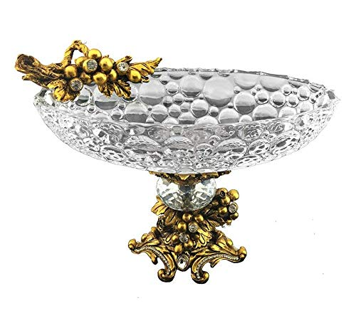 Clear Astoria Crystal (Astoria Grand Elegant Sparkling Crystal Round Decorative Bowl, Clear and Gold + Free Basic Design Concepts Expert Guide)