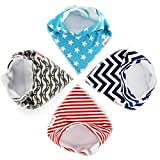 Amazon Price History for:Baby Gifts Bandana Drool Bibs With Snaps For Boys And Girls Premium Dribble & Teething 100% Organic Cotton Absorbent Best As Baby Gift Shower Set 4 Pack Included Free Bonus Bag and Ebook By BabyClub