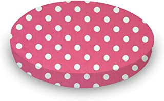 product image for SheetWorld Fitted Oval Crib Sheet (Stokke Sleepi) - Polka Dots Pink - Made In USA