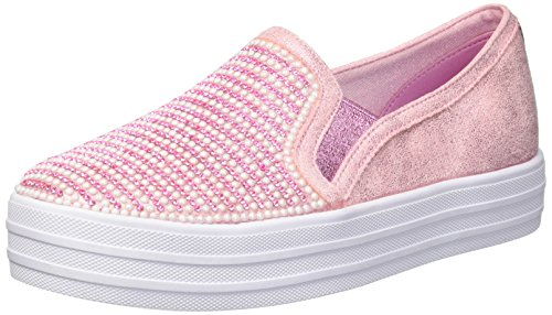 Skechers Kids' Double up-Shiny Dancer Sneaker,Pink,13 Medium US Little Kid by Skechers