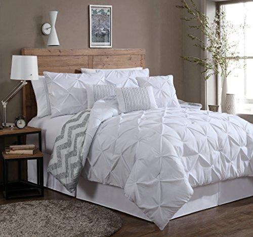 Geneva Home Fashion 7-Piece Ella Pinch Pleat Comforter Set K
