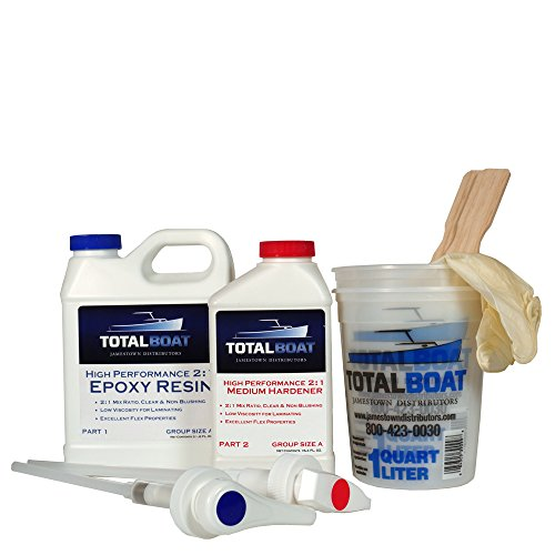 - TotalBoat 2:1 High Performance Epoxy Kits (Quart, Medium)