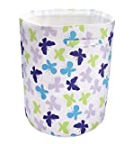 NoJo Beautiful Butterfly Nursery Hamper, Purple/Lavender/Aqua/Green