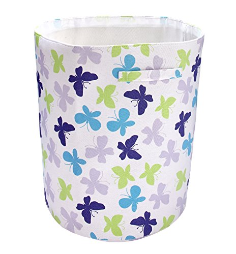 NoJo Beautiful Butterfly Nursery Hamper, Purple/Lavender/Aqua/Green (Butterfly Nursery Hanging)