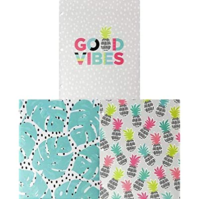 Studio C Carolina Pad 3 Folder Set ~ Good Vibes: Toys & Games