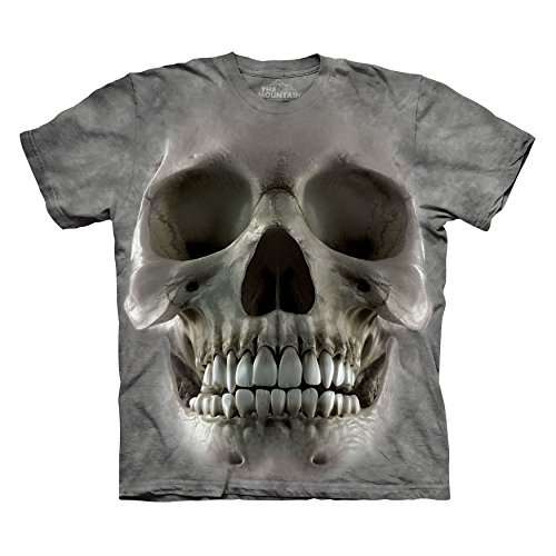 - The Mountain Men's Big Face Skull T-Shirt Grey XL