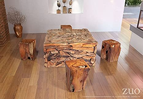 Amazon.com: Zuo Erosión moderna mesa de centro: Kitchen & Dining
