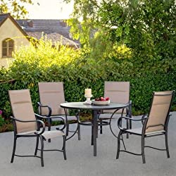 Mathis 5-Piece Patio Dining Set, Seats 4
