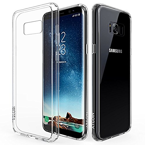 Galaxy S8 Case, S8 Clear Case, ATGOIN [Scratch Resistant]  Crystal Clear Slim Fit Flexible TPU Gel Rubber Soft Silicone Protective Case for Samsung Galaxy S8 2017 Release (Clear)