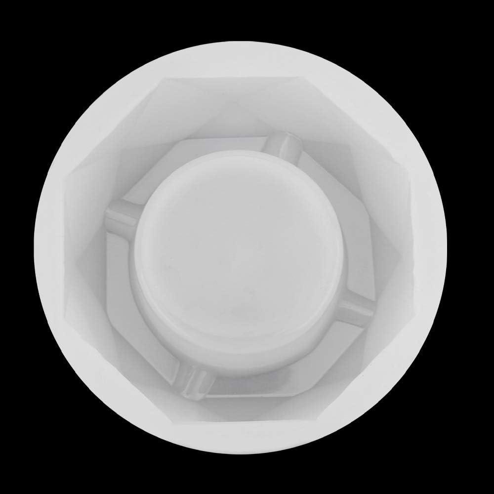Gobesty Molde de resina de cenicero molde de fundici/ón de silicona molde de resina Espejo completo Molde de cenicero de bricolaje resina epoxi Molde de pastel hecho a mano de resina artesanal