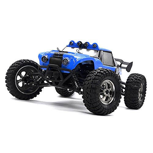 Zerospace Keliwow Waterproof RC Truck Desert Off-road RC Car 1:12 4WD 2.4GHz Scale Fast Speed 25MPH RC Buggy Truck RTR (Waterproof, Blue) (Rc Cheap Trucks Waterproof)