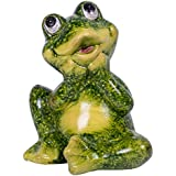 Small Sitting Frog Stone Indoor/Outdoor Garden Statue