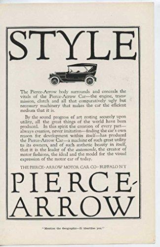 1914 Pierce Arrow Motor Car Buffalo NY Auto Ad White Pine Bureau (Pierce Arrow Buffalo)