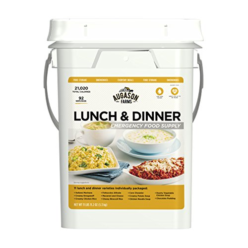 Augason Farms Lunch & Dinner Emergency Food Supply 11 lbs 11.2 oz 4 Gallon Pail ()