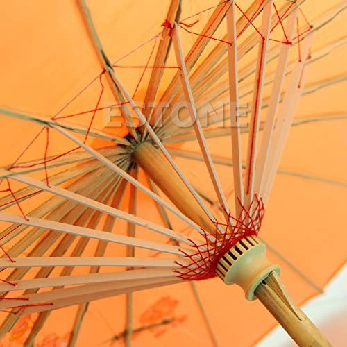Orange 1Pc Chiic Japonais Chinois Parapluie Papier Huile Couleur Unie Parapluie,/Art D/éco/Parasol Peint/pour Le Mariage Danse Party