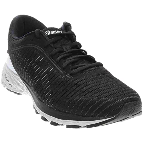 113fc99b944e Asics Mens DynaFlyte 2 Running Shoe 2 Black White Carbon Size 12   Amazon.co.uk  Shoes   Bags