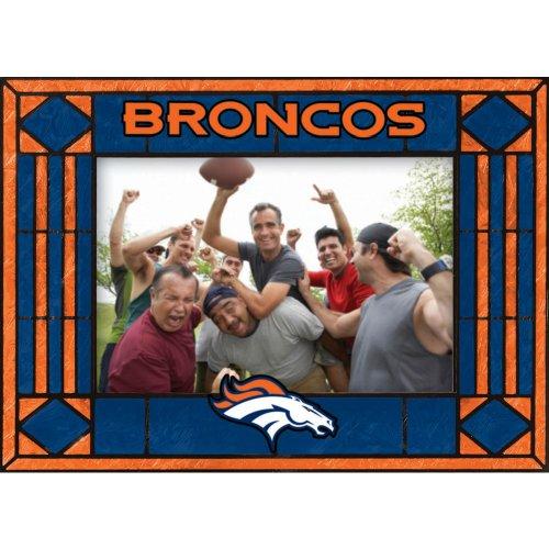 Denver Broncos Art Glass Horizontal Frame