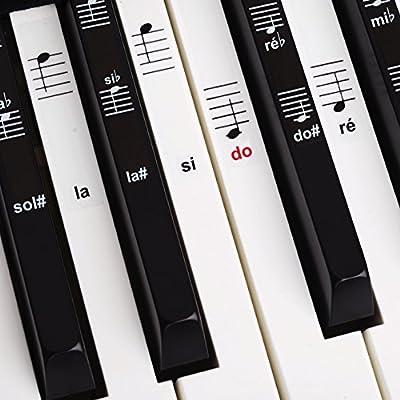 Set de pegatinas para teclado electrónico o piano con 88 teclas ...