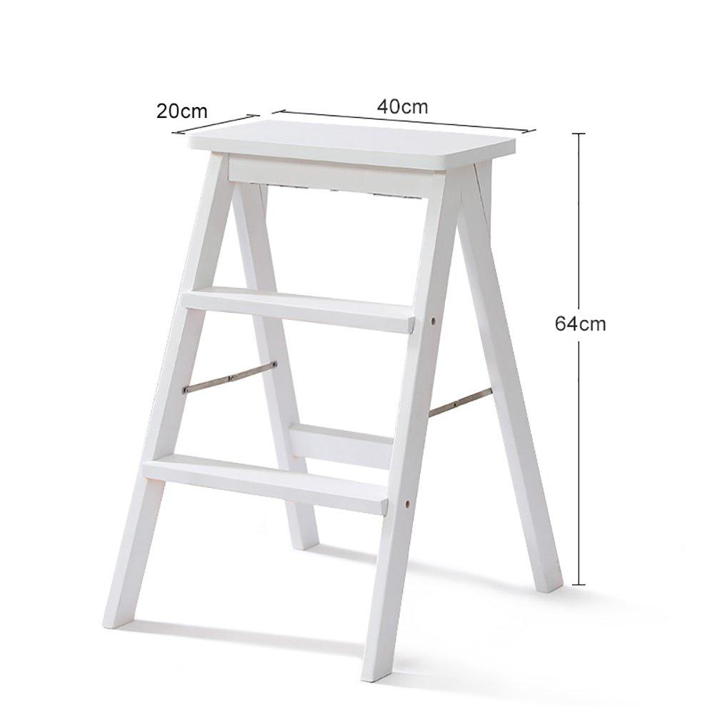 はしご便 はしごのスツールソリッドウッドステップスツールの家庭の2つのステップの折り畳みラダーのキッチンデュアルユースの3つの層階段のスツール (色 : Style3) B07FHLH19H  Style3