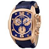 Invicta Men's 6746 Lupah Collection Chronograph Diamond Accented Blue Leather Watch