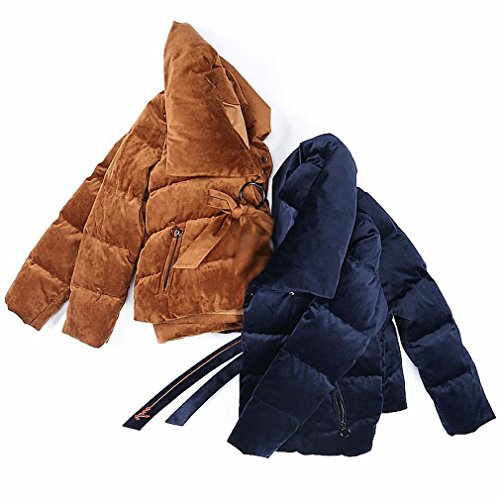 blue Thickened TT Deep Winter High Velvet Jacket down Jacket Suit Students Short Lady Profile Collar Casual Bread Section 55Tqrw