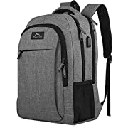 Matein Travel Laptop Backpack, Business Anti Theft Slim Durable Laptops Backpack with USB Charging Port, Water Resistant…