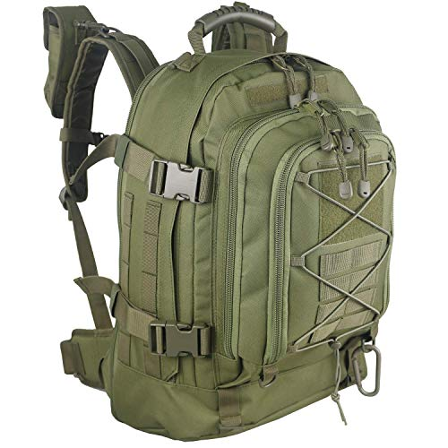 WolfWarriorX Military Tactical Assault Backpack 3-Day Expandable Bag Extreme Water Resistant Molle Rucksack for Outdoors Camping Hiking Trekking (Green) from WolfWarriorX