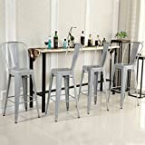 Diy Kitchen Island with Seating Belleze Indoor/Outdoor Barstool Stool with Back (4 Pack), 30