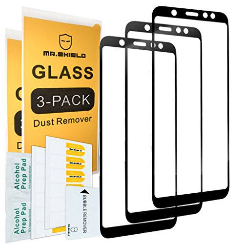 [3-Pack]-Mr.Shield for Samsung Galaxy A6+ [2018]/Galaxy (A6 Plus) [2018] [Japan Tempered Glass] [9H Hardness] [Full Cover] Screen Protector with Lifetime Replacement