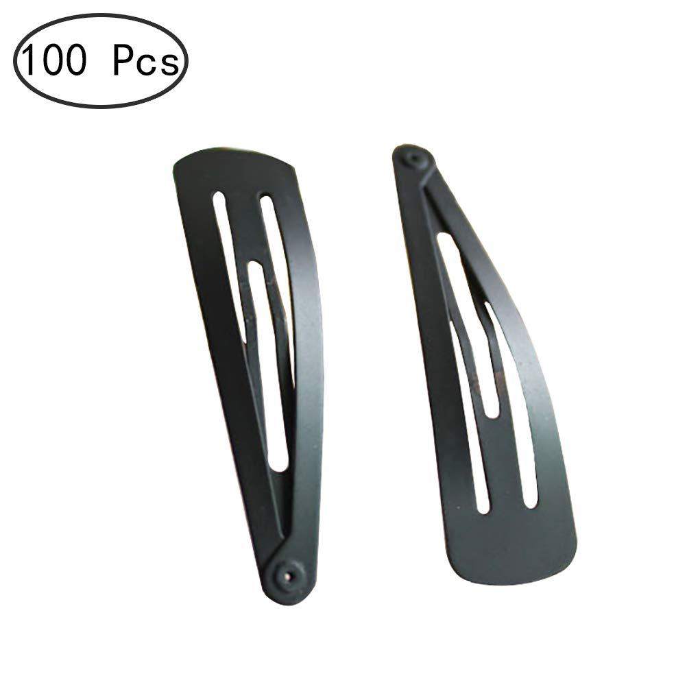 1Buy 100 Piezas 2 Pulgadas Accesorios para el Cabello de Bricolaje sin Doblar sin Arrugas Pinzas para el Cabello pasadores de Metal