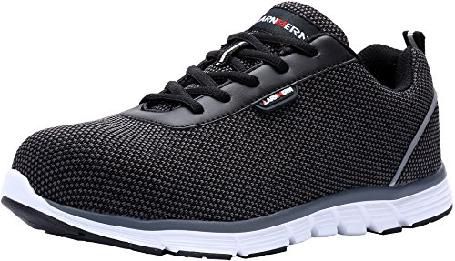 - MODYF Steel Toe Work Safety Shoes Reflective Casual Breathable Outdoor Footwear (8.5)