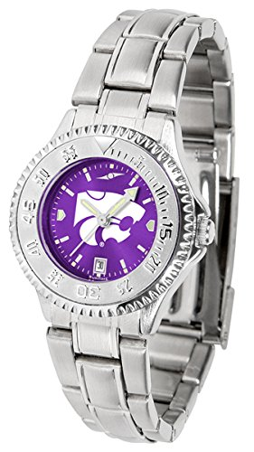 (Linkswalker Kansas State Wildcats Ladies' Competitor Steel Anochrome Watch)