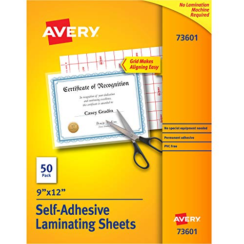 - Avery Self-Adhesive Laminating Sheets, 9