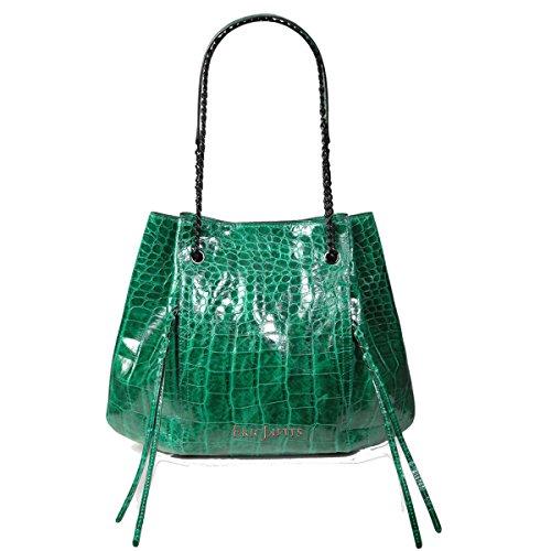 Eric Javits Luxury Designer Women's Fashion Handbag - Leigh Tote - Emerald by Eric Javits