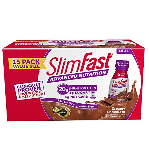 SlimFast Advanced Creamy Chocolate High Protein Ready to Drink Meal Replacement Shakes (11 fl. oz, 15 pk.) ES