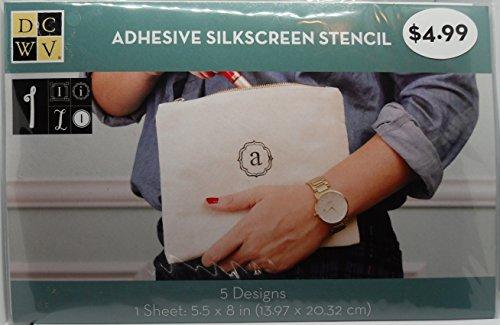 - DCWV Adhesive Silkscreen Stencil - 5 Designs - Letter I/i