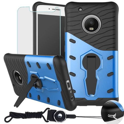 uk availability 106dc 5bf02 Moto G Plus (5th Generation) Case,Moto G5 Plus Case , BestAlice Hybrid  Shockproof Defender 360 Rotating kickstand Armor Case Cover & Tempered  Glass ...